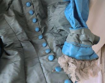 Antique Vintage Theater Costume Jacket ruined Treasure Boudoir shabby museal historische Kleidung