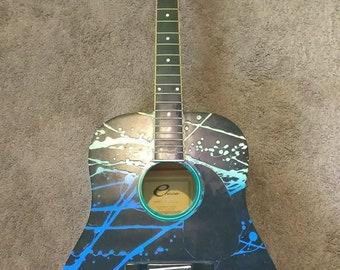 Spray paint guitar
