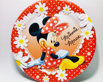 Paper plates Minnie Mouse 10 pcs. Paper plate for childrenu0027s party holiday or birthday. Minnie Mouse plate. Minnie party plates.  sc 1 st  Etsy & Minnie mouse plate | Etsy