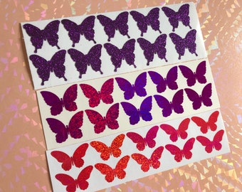 Glitter Butterfly Stickers