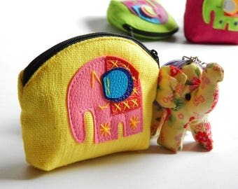 10 Elephant coin purses mixed color
