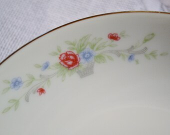 Vintage Florenteen Fantasia Fruit Berry Bowl Set of 5 Pink Floral Design Japan Panchosporch
