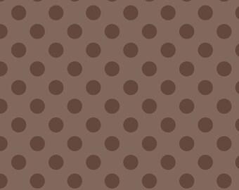 Medium Tone on Tone Dots Brown:  Riley Blake Designs Cotton Basics 1 Yard