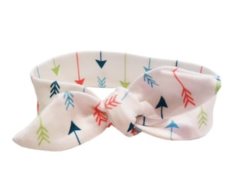 ORGANIC Baby Knotted Headband in Multi ARROWS - A Modern Gift Idea