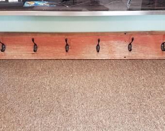 Reclaimed barnwood coatrack