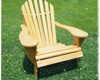 Classic Adirondack Chair, Cypress Adirondack Chair, Outdoor Furniture,  Patio Furniture, Deck Furniture