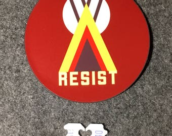 """Resist for Native Americans 3"""" Sticker"""