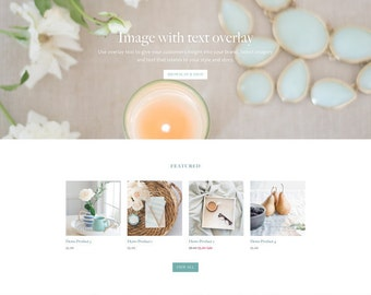 Shopify Responsive Theme Design - Tranquil