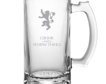 I Drink And I Know Things - Game of Thrones Tribute Beer Mug
