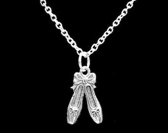 Gift For Her, Ballet Slippers Ballerina Dance Dancer Gift Necklace