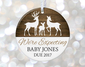 Pregnancy Reveal Christmas Ornament Baby Shower Gift Birth Announcement Pregnancy Ornament Adoption Gift Expecting Baby Gift Mom to Be Gift