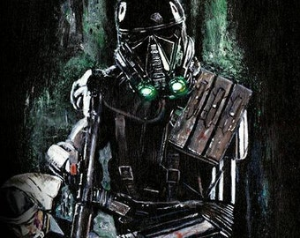 Star Wars Rogue One Deathtrooper Limited Edition Art Print