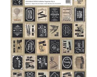 Board of 64 stickers Vintage Artemio - stamp Stickers - stamps stamp sticker