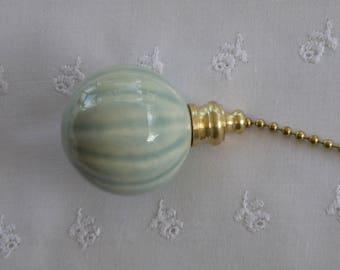 Celadon Fluted Fan Pull - Nickel or Brass