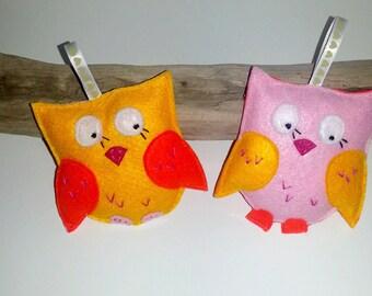 Owls figurines, Decorative suspensions