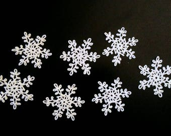 Crochet snowflakes. Set of 7.