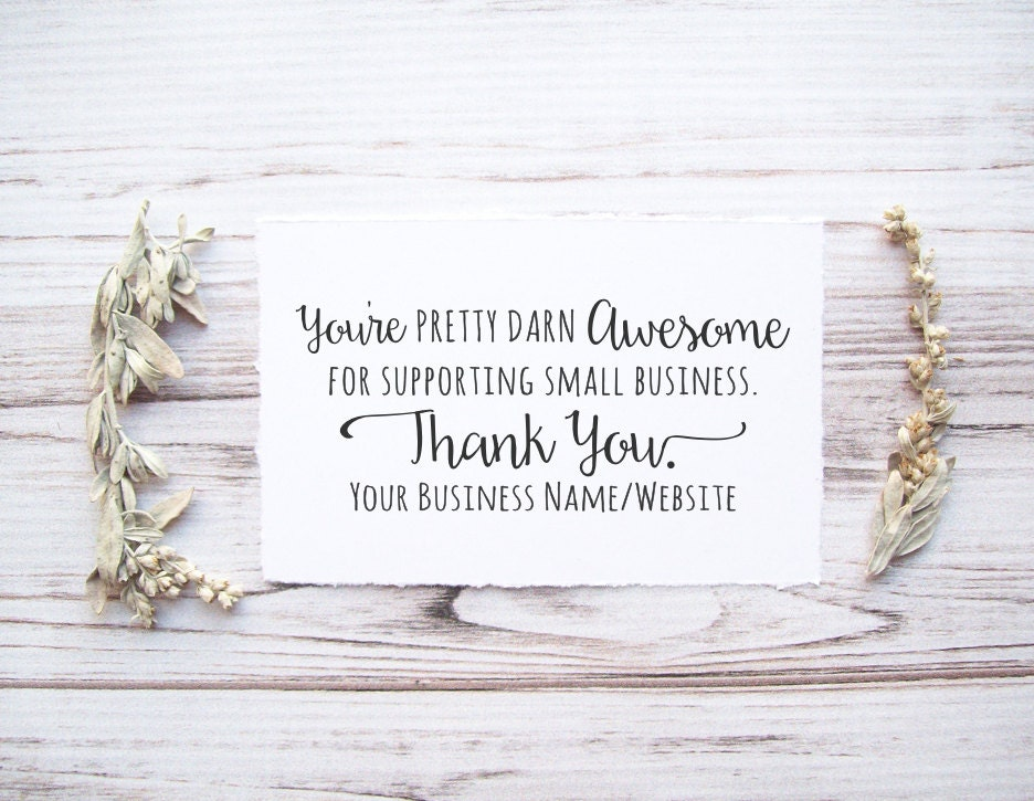 Thank You Stamp with Website Address for Small Business - Custom ...