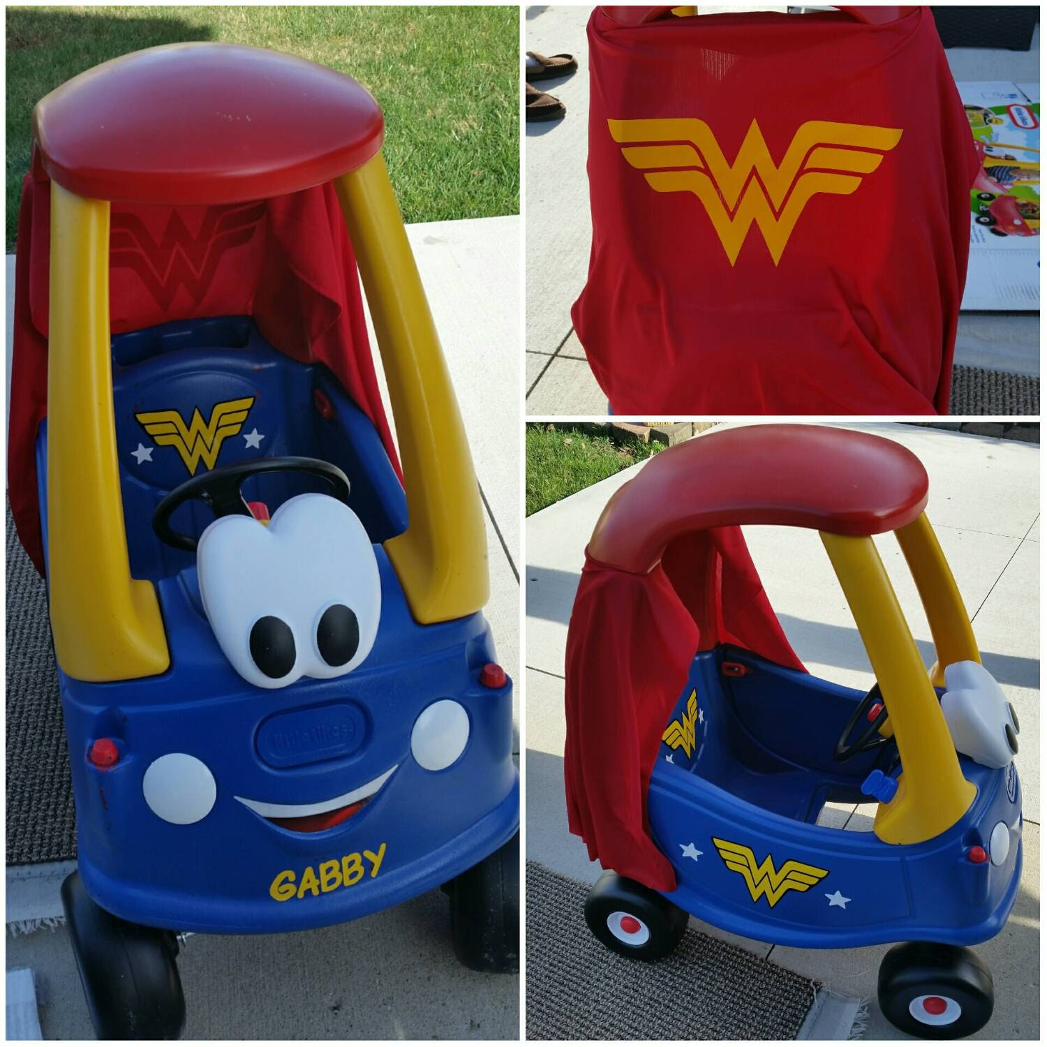 Wonder Woman Cozy Coupe Kit Vinyl Sticker And Tutorial Package