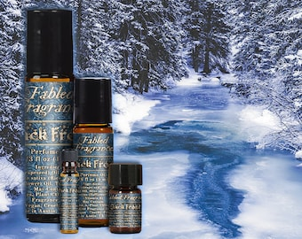 JACK FROST Perfume Oil with Fresh Water, Wintergreen, Camphor, Chypre, Teak Wood, Cedarmoss, Winter Forest Perfume, Ships Out in 5-8 Days