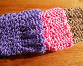 Young Girls Boot Cuffs, Faux Leg Warmers, Boot Toppers, Boot Socks