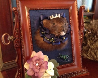 Victorian / Monarchy Inspired Real Mink Mount 'Thomasina'