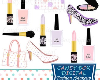 Fashion and Makeup Clipart, Diva Girly Clipart, Nail Polish Clip Art - Commercial Use OK