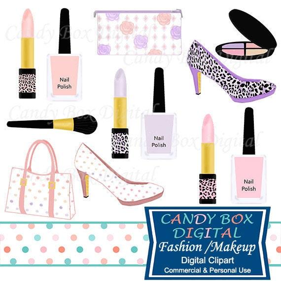 Fashion and Makeup Clipart, Diva Girly Clipart, Nail Polish Clip Art ...