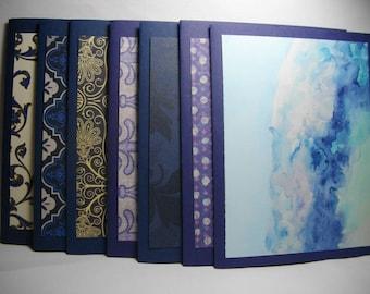 Blue Assortment • Box of 7 Handmade Cards