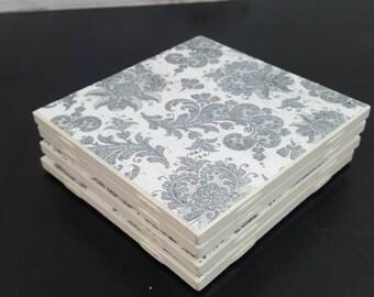 Handmade Tile Coasters set of 4