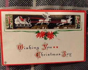 Vintage 1915 Christmas Joy JEP Postcard Series 17A