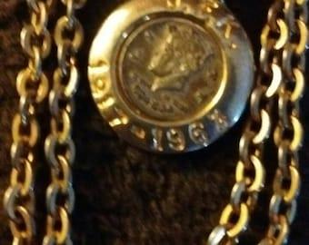JFK commemorative coin necklace