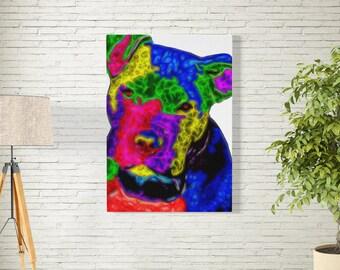 Original Pit Bull Dog Art Canvas