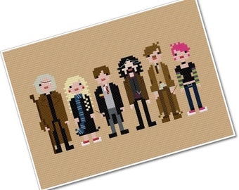 Harry's Friends 2 - The *Original* Pixel People - PDF Cross-stitch Pattern - INSTANT DOWNLOAD