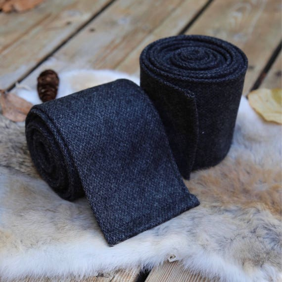 New! Viking Charcoal Gray Wool Leg Wraps Winingas Vindingr Wickelbander vaf-spjôrr, Garb, Norse, SCA, LARP, Anglo Saxon, Armor, Reenacment