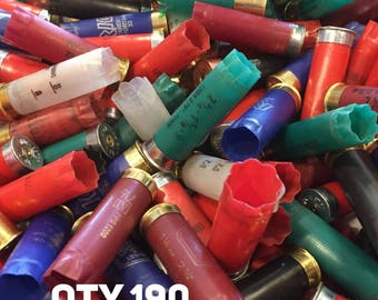 Empty Shotgun Shells Various Mixed Colors Once Fired Hulls Shotshells Casings Spent Ammo Cartridges 12 Gauge 190 Pieces