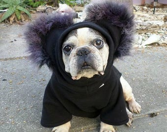 French Bulldog Boston Terrier Pug Dog Froodies Hoodies Halloween Costume Cosplay DireWolf Fleece Jacket Sweatshirt Coat