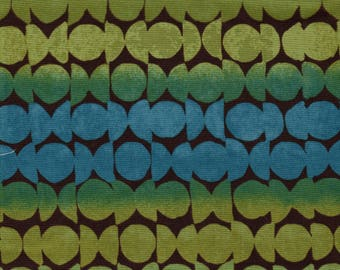 Al Fresco Fabric Lime, Blue 1.5 yard
