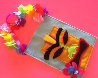 Hawaiian Luau goodie bags // Luau party favors // tiki party favors // hawaiian party favors