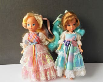 2 Vintage Dolls  Lady Lovely Locks pixie Tails Dolls 1986 88 TCFC