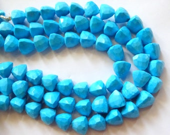 Turquoise Faceted Trillion, Turquoise Faceted Briolettes, Turquoise Fancy Shape Briolettes