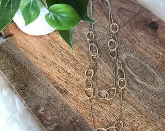 vintage circle link necklace | jewelry