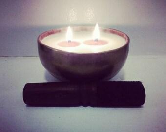 Singing bowl candles