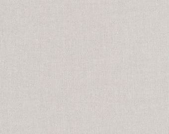 Glimmer Solids Silver Organic Cotton Fabric Broadcloth Cloud9