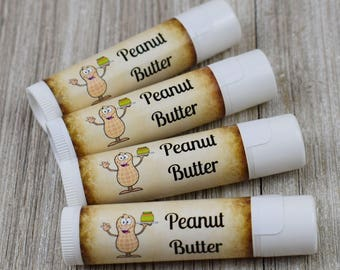 Peanut Butter Flavored Lip Balm - Handmade All Natural Lip Balm