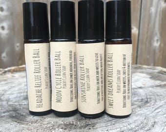 Essential Oil Roller Balls Aromatherapy Relief