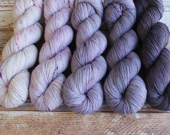 PREORDER - Five Skein Fade Kit #3 - Hand Dyed Yarn