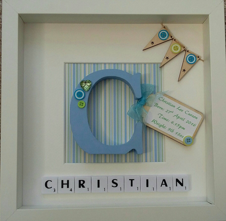 Personalised boys/Girls christening gift Baby shower gift