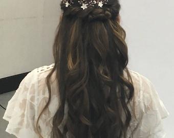 Bridal hair pins, set of hair pins, rose gold hair accessories, wedding hair pins, flower hair pin, rose gold hair pin, rose gold hair vine,