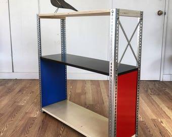 Model B3X2 shelving unit  eames era mid century modern design