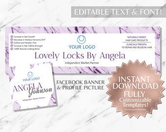 Purple Marble Hair Salon Facebook Banner Monat Business Cards Monat Facebook Banner Monat Global Marketing Monat Social Media RF Facebook
